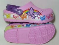 Crocs FunLab Multi-Butterfly Band Lights Kids Clog - Electric Pink Size 3Y