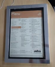 More details for hanging illuminated window menu display case to hold 4 x a4 menus