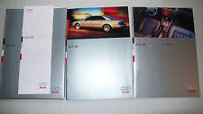 Prospekt Audi A8, 5.1995, 48 Seiten + 26 Seiten Ausstattung + Preise in Mappe