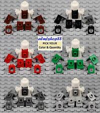 LEGO - Neck Bracket w/ Back Stud - Minifigure Body Wear Dark Light Gray Red Lot