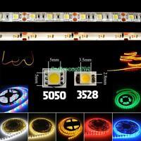Ultra Bright 3528/5050 SMD 60/300 LEDs 1/5M RGB Flexible Strip Light 12V Power