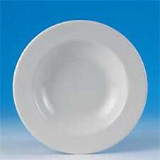 "4 Steelite 9"" Bowls - Anfora 18oz, White, Rimmed - Pasta, Soup, Salad or Dessert"