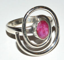 Indian Ruby 925 Sterling Silver Ring Jewelry s.6.5 JB14757