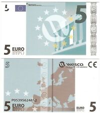 Europe 5 Euro Polymer Wesco Type 1 NEUF UNC Educational Test Note Banknote