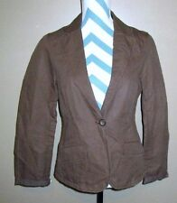 Womens Sz 10 Gap Brown With Pink Lining Long Sleeved Career Professional Blazer