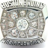 1972 Boston Bruins Orr Hockey Stanley Cup Silver Plated Championship Ring SZ 8