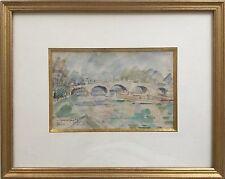 Jules JOETS 1884-1959.Paris,le Pont Neuf.Aquarelle.SBG.Titrée.13x20.Cadre.