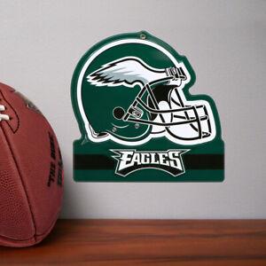 PHILADELPHIA EAGLES METAL HELMET SIGN 8X8 NFL DIE CUT STEEL HEAVY DUTY MAN CAVE
