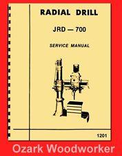 Asian JRD-700 Radial Drill Operating Instructions & Parts Manual 1201