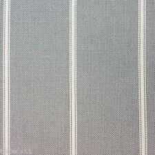 SUNBRELLA SOFT AND SUPPLE STRIPE INDOOR OUTDOOR FABRIC SEAWARD/GRAPHITE BTY