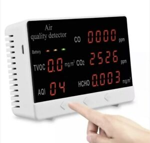 Large screen air quality detector Carbon dioxide 360-minutes tester