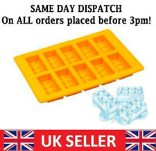 10 Lego Shape Ice Bricks Cube Cubes Silicone Tray Big Mold Mould Fridge Freezer