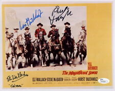 The Magnificent Seven 7 ELI WALLACH Horst Buchholz Robert Vaughn cast signed x3