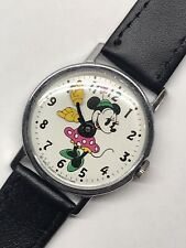 Vintage 1960s Timex Minnie Mouse Wrist Watch Large 33mm Working