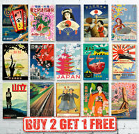 Vintage High Quality Japanese Japan Travel Posters Prints Wall Art A4/A3/A2/A1
