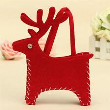 2015 Xmas Holiday Elk Deer Tote Gift Bag Candy Gifts Bag Cosmetic Bag Handbag JJ