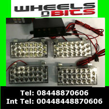 4x22 Led Intermitente Beacon banderillero Luces Truck Van Car Blanco 12v recuperación Luz Estroboscópica