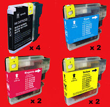 WB0980 10 CARTUCCE COMPATIBILI per BROTHER DCP-145C DCP-163C DCP-165C DCP-167C