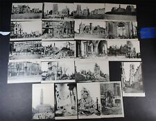Postcard set of 20 RPPC? Battle of Arras France WWI  1914 to 1919  A-06