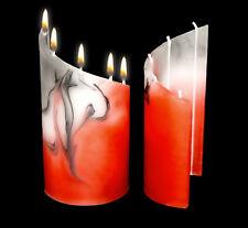 Zylinder-Kerze Elem Candle Design Handarbeit Ausgefallenes Geschenk Idee Deko