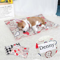 Dog Print Cushion Custom Name Washable Nesting Bed Covered Bedding for Crate