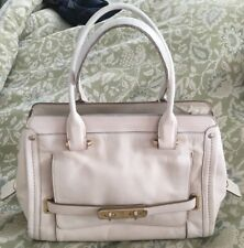 COACH Chalk White Leather SWAGGER Convertible Satchel Purse Bag-37182
