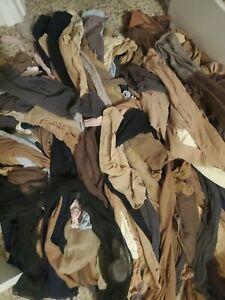 Wholesale Lot 7 Pairs Pre Owned Pantyhose Asst. Colors & Sizes S M L X Q