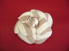 Chanel fabric camellia large size pin brooch