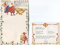 1 CHRISTMAS FOLK ART VILLAGE 1 VINTAGE BUTTER CHURN ANCHOVY EGG SANDWICH CARD
