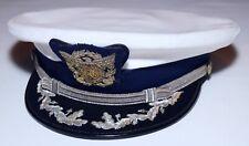 Vintage Bernard White Us Coast Guard 103 Cover Cap/Hat Large 7 3/8 - 7 1/2 Vinyl