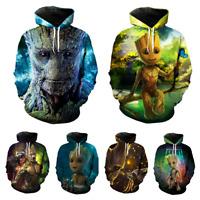 Men's Women's Hoodie Groot 3D Print Sweatshirt Jacket Coat Pullover Graphic Tops