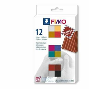 Staedtler Fimo Leather Effect Set of 12 Colours