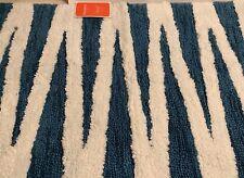 Opalhouse Perectly Soft Bath Rug Blue Teal  White New 20x32