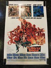 "THE DIRTY DOZEN Original 1967 Movie Poster, 27""x41"", C8.5 Very Fine to Near Mint"