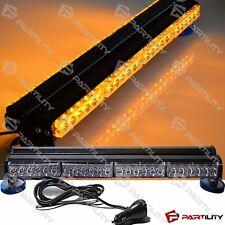 25 inch 144W LED Amber Light Magnet Warn Strobe Bar Roof Yellow Traffic Advisor