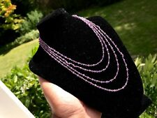 "VINTAGE SILVER ROSE GILT AMETHYST GUARD MUFF CHAIN. 60"" LONG. BEAUTIFUL COLOUR!!"