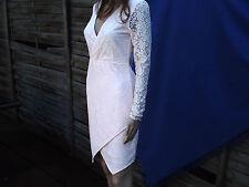 H&M Kurzes, sexy, hellrosa Spitzenkleid in Größe 38