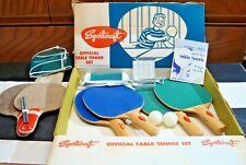 Vintage Sportcraft Table Tennis Set New in Original Box 50's Mid Century