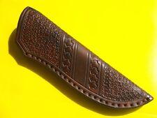 Schöne Messerscheide!18,5 cm!Handarbeit! Hochwertiges Sattlerleder! Lederscheide