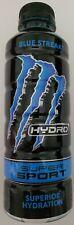 NEW MONSTER HYDRO SUPER SPORT BLUE STREAK DRINK 20 FL OZ FULL BOTTLE FREE SHIP