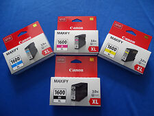 GENUINE CANON OFFICE MAXIFY PGI-1600XL INK CARTRIDGES - SET OF 4  -  HIGH YIELD