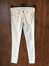 "FRENCH CONNECTION JEANS Pastel Yellow Summer Skinny Leg UK 10 / 38 / 33"" Leg NEW"