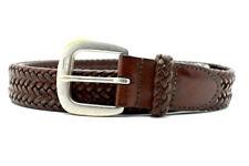 Ralph Lauren Vintage Mens Braided Leather Belt Brown Size 36