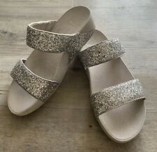 Fitflop Glitterball Silver Ladies  Sandals Size 7