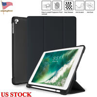 Slim PU Leather Stand Shockproof TPU Case With Pencil Holder for ipad 2018/2017