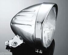 "PHARE BULLET GROOVED 5¾"" H4 CHROME HOMOLOGUE POUR HARLEY & CUSTOMS"