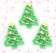 5 x Cute Christmas Tree Flatback Cabochon Embellishment Kawaii Craft Decoden