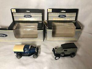 "Liberty Classics Ford Model ""A"" Truck Set of 2 Diecast 4"""