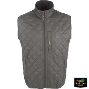 NEW DRAKE WATERFOWL DELTA QUILTED FLEECE LINED VEST