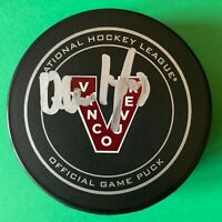 Quinn Hughes - Vancouver Millionaires Signed Official NHL Game Puck - Canucks